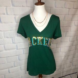 PINK Victoria's Secret Greenbay Packers Tee Shirt